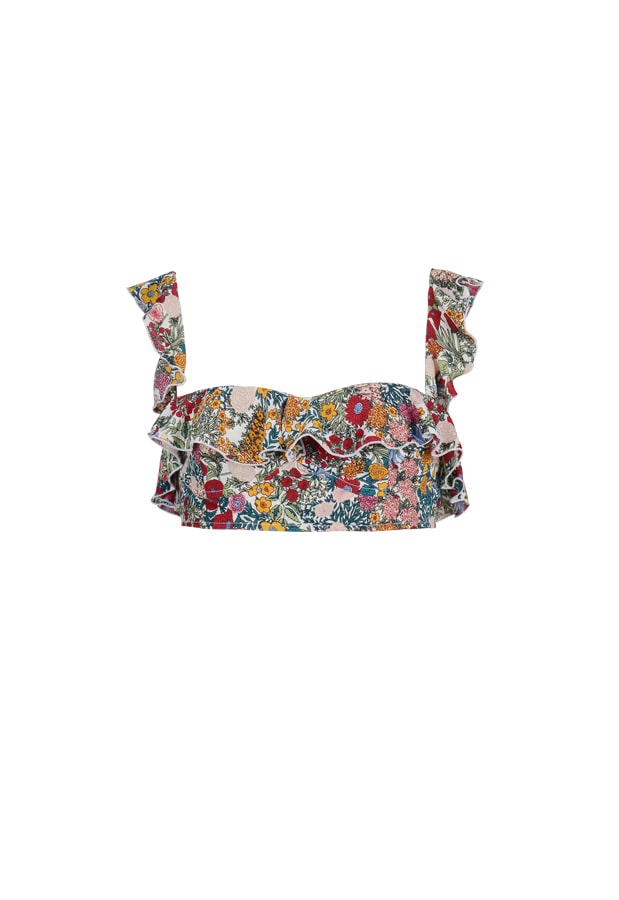 Frill Bra Top - Floral Printing