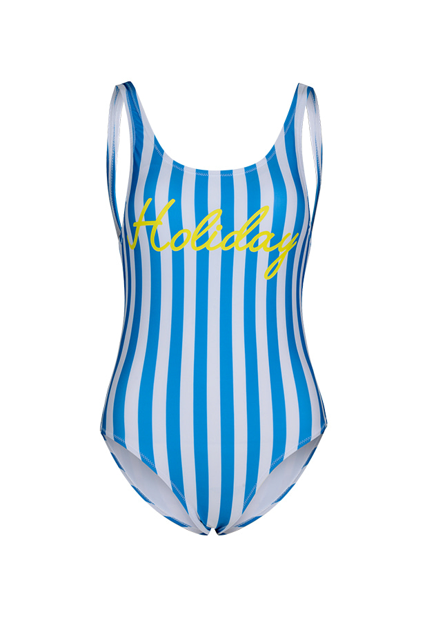 Holiday One Piece - Blue Stripe