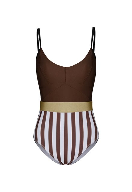 20 Jennie One Piece - Brown / Brown Stripe