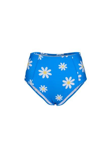 Kelly High Waist Bottom - Blue / Daisy