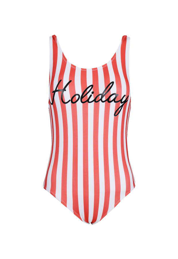 Holiday One Piece - Red Stripe