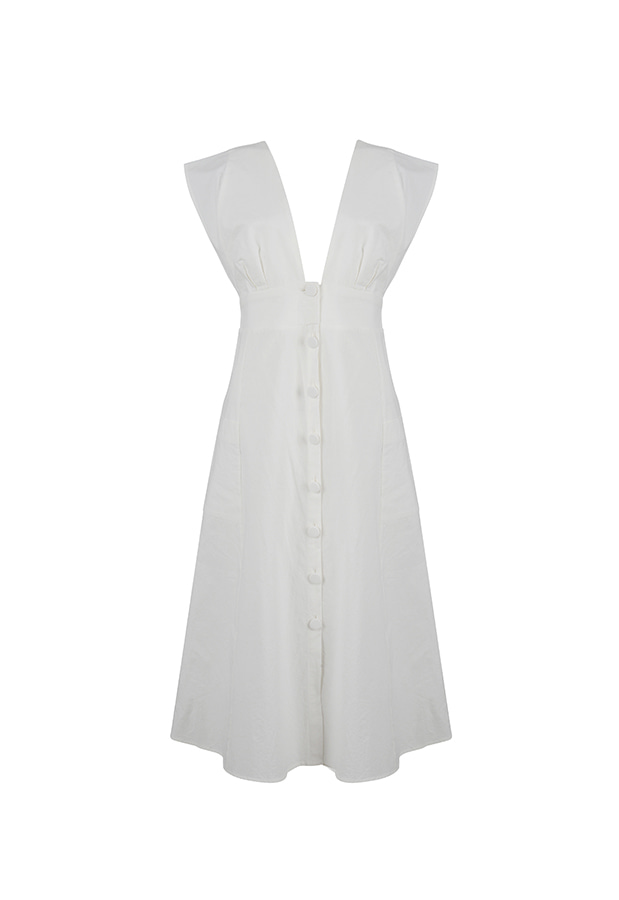 Button Dress - Off White