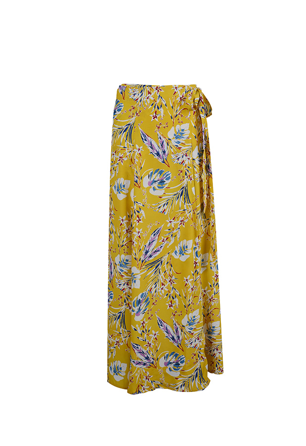 Wrap Maxi Skirt - Yellow