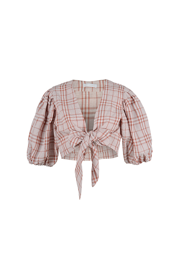 Puff Blouse - Pink Check