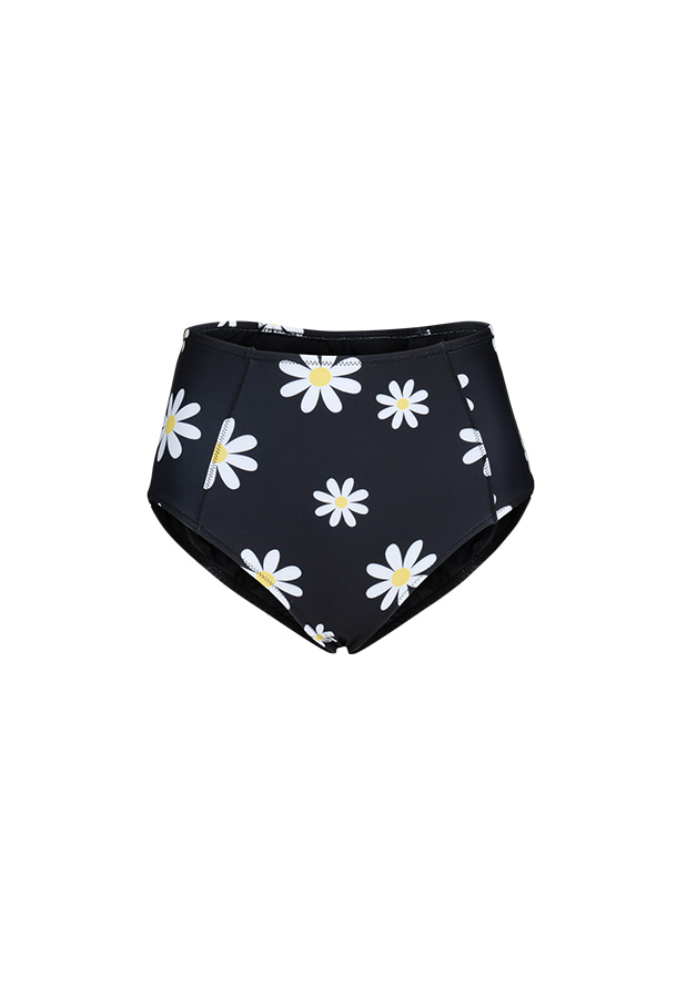Kelly High Waist Bottom - Black / Daisy