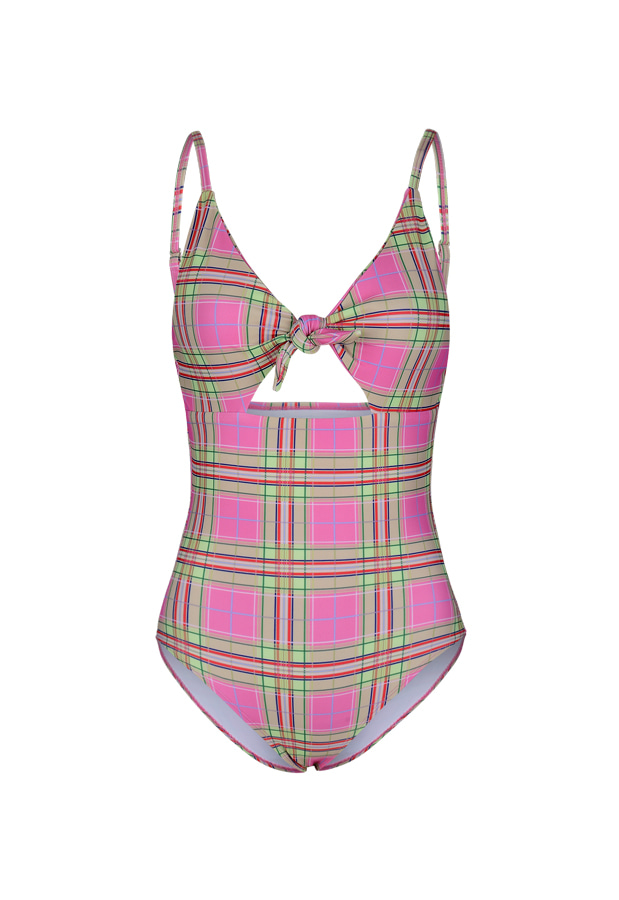 20 Daisy One Piece - Pink Check
